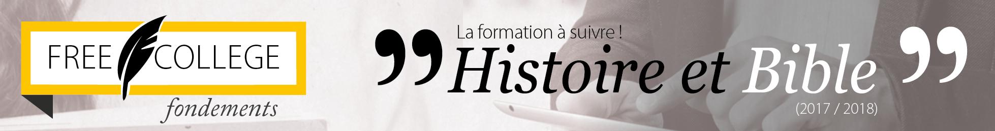 FREE COLLEGE Histoire et Bible 2017/18