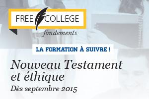 FREE COLLEGE - Pub nouveau testament