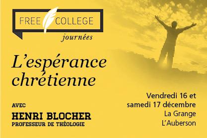 FREE COLLEGE - L'espérance chrétienne