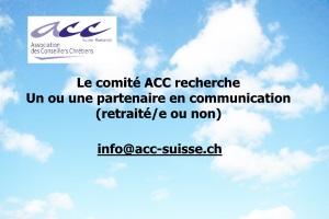 l'ACC recherche