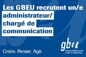 Les GBEU recherchent