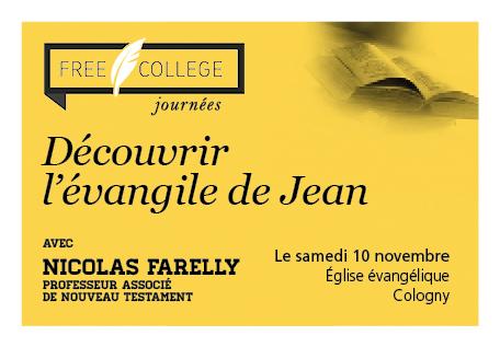 FREE College : Découvrir l'Evangile de Jean